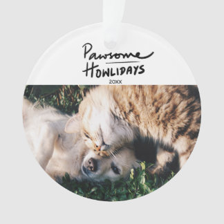 Photo de Noël de chien de Pawsome Howlidays  