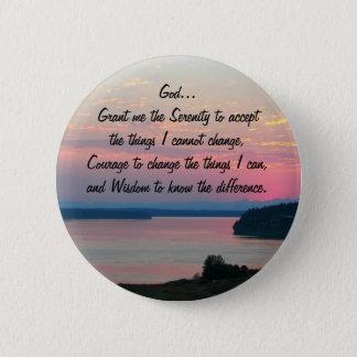 Photo de paysage marin de rose de prière de badge rond 5 cm