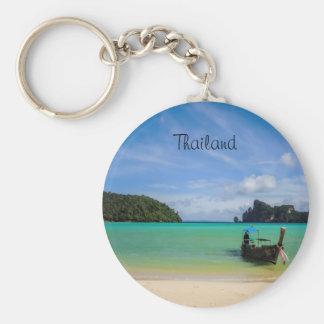 Photo de plage de voyage de la Thaïlande avec le Porte-clé Rond