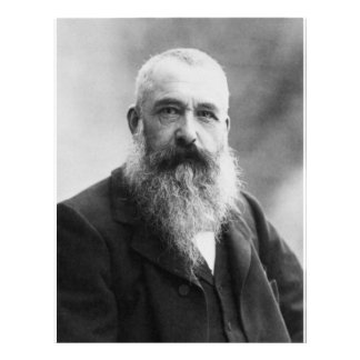Photo de portrait de Claude Monet Prospectus Avec Motif
