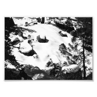 """Photo de scène d'hiver de Milou, 5"""" x 7"""", noir et"""