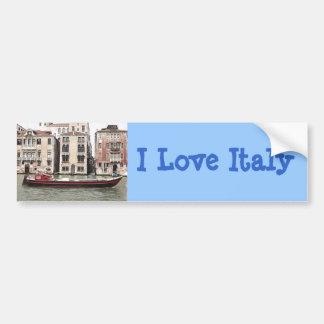 Photo de Venise Italie de bateau de pêche dans le  Autocollant De Voiture