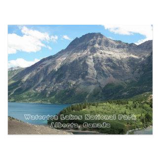 Photo de voyage de parc national de lacs Waterton Carte Postale