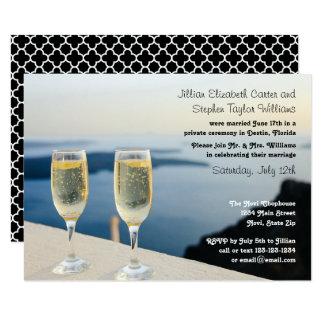 Photo deux en verre de Champagne - le mariage 3x5 Carton D'invitation 8,89 Cm X 12,70 Cm