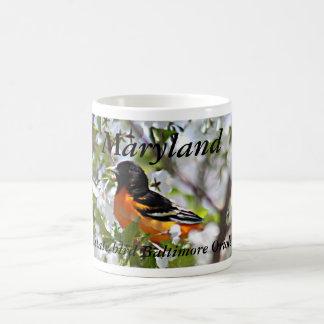 Photo d'oiseau d'état du Maryland sur la tasse