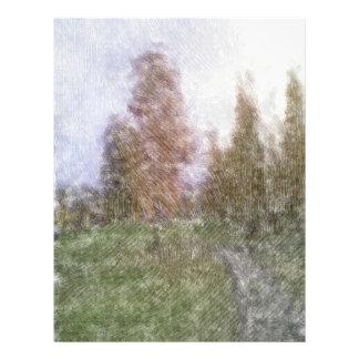 Photo éditée de forêt prospectus personnalisés
