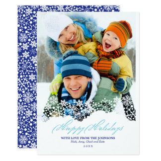 Photo en baisse de vacances de Noël blanc de Carton D'invitation 12,7 Cm X 17,78 Cm