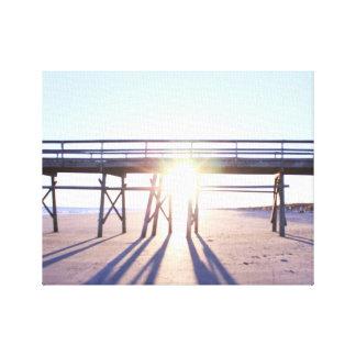 Photo ensoleillée de plage toiles