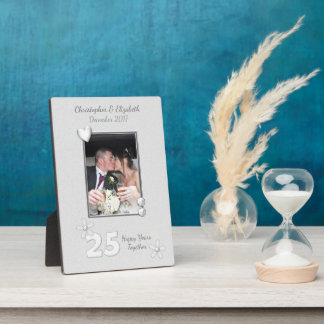 Photo personnalisée d'anniversaire de noces plaque photo