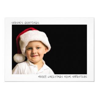 Photo personnalisée simple moderne de Noël Carton D'invitation 12,7 Cm X 17,78 Cm