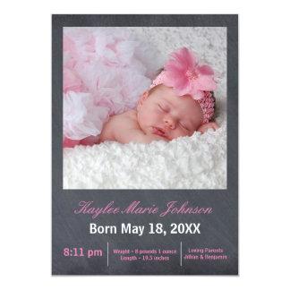 Photo rose de tableau - faire-part de naissance