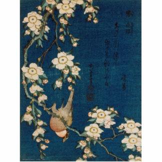 Photo Sculpture Chardonneret et cerisier de 葛飾北斎 de Katsushika