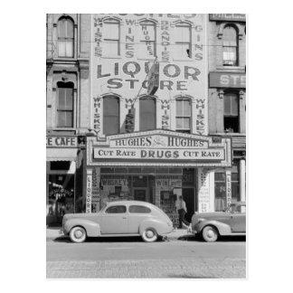 Photo vintage de magasin de vins et de spiritueux carte postale