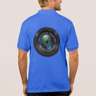 Photographe et objectif de caméra d'affaires de polo