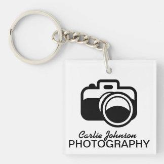 Photographe noir moderne d icône d appareil-photo porteclés