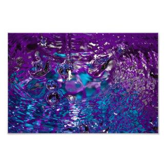 Photographie abstraite de l'eau de bleu et de pour