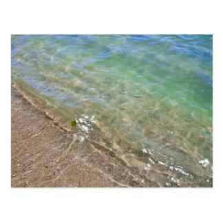 Photographie abstraite de l'eau de vagues carte postale