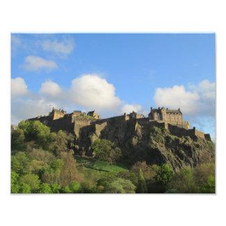 Photographie de château d'Edimbourg