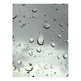 Photographie de gouttes de pluie carte postale