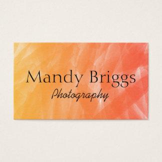 Photographie de peinture d'aquarelle de rouge cartes de visite