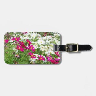 Photographie florale de jardin de fleurs étiquette pour bagages
