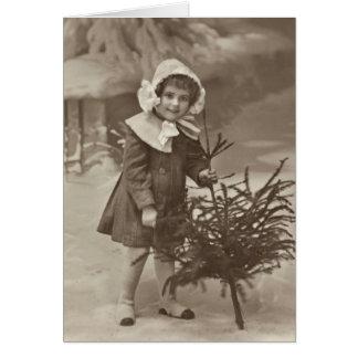 Photographie vintage de fille avec une carte