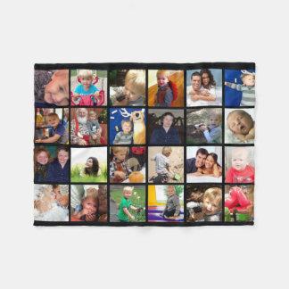 Photos de famille de collage de photo couverture polaire