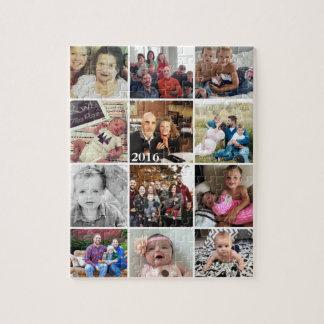 Photos de famille de collage de photo puzzle