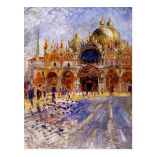 Piazza San Marco par Pierre-Auguste Renoir Carte Postale