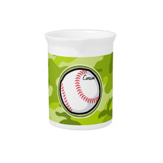 Pichet Base-ball sur Camo vert, camouflage
