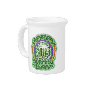 Pichet Bière verte de Jour de la Saint Patrick