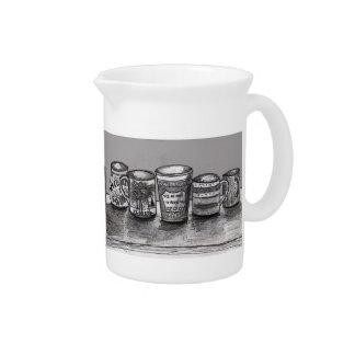 Pichet Broc avec l'art de tasse de café