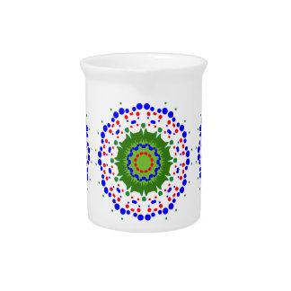 Pichet Broc avec le mandala coloré