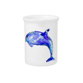 Pichet Broc bleu de dauphin