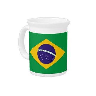 Pichet Broc brésilien de drapeau