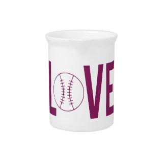 Pichet Broc de base-ball d'amour