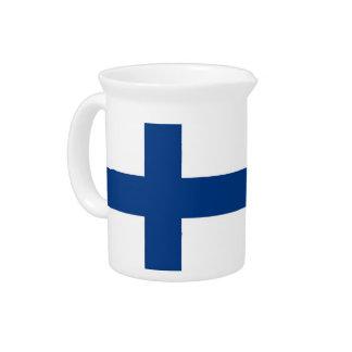 Pichet Broc de drapeau de la Finlande