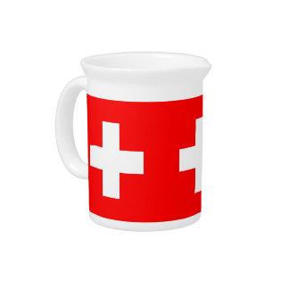 Pichet Broc de drapeau de la Suisse
