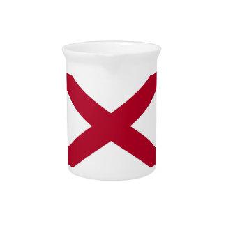 Pichet Broc de drapeau d'état de l'Alabama