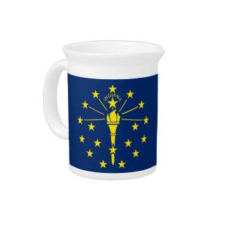 Pichet Broc de drapeau d'état de l'Indiana