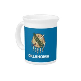 Pichet Broc de drapeau d'état de l'Oklahoma