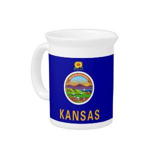 Pichet Broc de drapeau d'état du Kansas