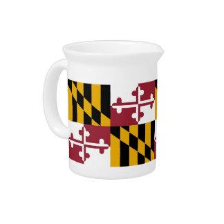 Pichet Broc de drapeau d'état du Maryland