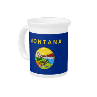 Pichet Broc de drapeau d'état du Montana