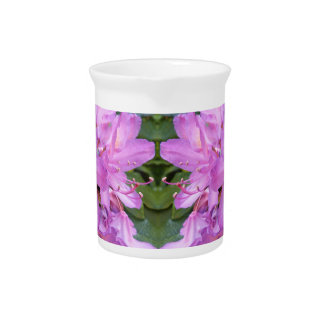 Pichet Broc de fleur de rhododendron