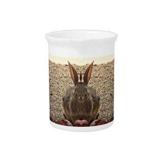 Pichet Broc de porcelaine de lapin d'amour