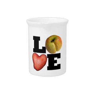 Pichet Broc de porcelaine de pomme de terre de coeur de