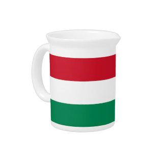 Pichet Broc hongrois de drapeau