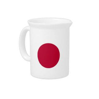 Pichet Broc japonais de drapeau