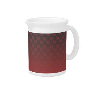Pichet Broc rouge de gradient